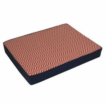 EZ Living Home Herringbone Reversible Memory Foam Dog Pillow Bed