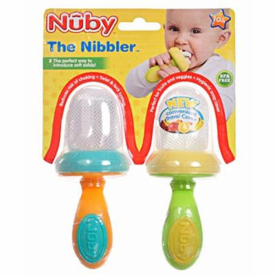 Nuby Nibbler 2-Pack Vegetable Feeders with Travel Covers