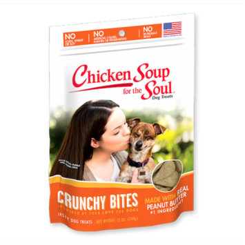 Chicken Soup for the Soul Crunchy Bites Peanut Butter Biscuit Dog Treats (8x12oz Case)