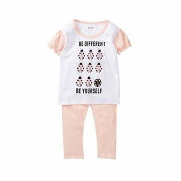 Silly Souls set-tg-by-4T 2 Piece Be Yourself Everyone Else is Taken Toddler Girls Lady Bug Ruffle Tee & Legging Set, 4 Years