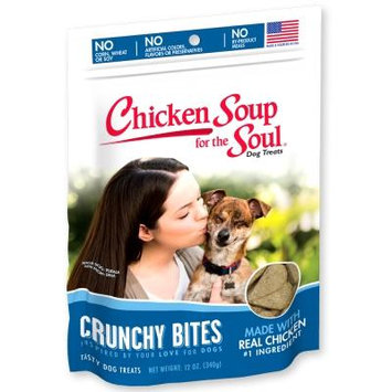 Chicken Soup for the Soul Crunchy Bites Chicken Biscuit Dog Treats 12oz
