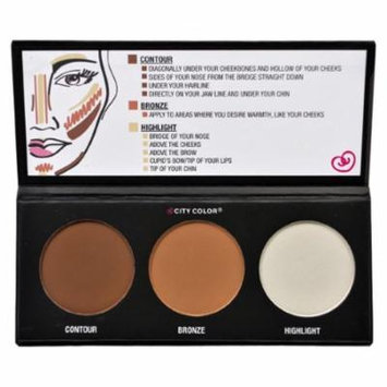 (6 Pack) CITY COLOR Contour Effects - Contour/Blush/Highlight
