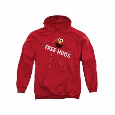 Sesame Street Classic Children's TV Show Elmo free Hugs Adult Pull-Over Hoodie