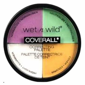 (6 Pack) WET N WILD CoverAll Correcting Palette - 4 Shades