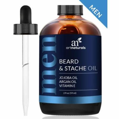 Beard & Stache Oil (2oz) - 100% Natural Grooming Conditioning Oil w/ Vitamin E