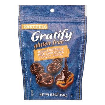 Gratify Pretzel Twists, Peanut Butter & Chocolate, 5.5 Oz