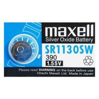 Maxell 390 SR1130SW Silver-oxide Battery 5pcs
