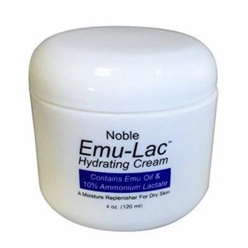 Noble Mystique Emu-Lac Hydrating Cream with Emu Oil, and 10% Ammonium Lactate Alpha Hydroxy, 4 oz (120 ml)
