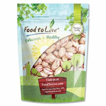 Cranberry Beans, 5 Pounds - Kosher, Raw, Sproutable, Vegan - by Food to Live