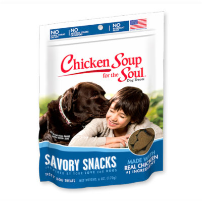 Chicken Soup for the Soul Savory Snacks Chicken Dog Treats 6 oz