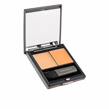 Vasanti Wonders of the World Colour Correcting Concealer Duo - Includes a colour corrector and a concealer with a mirror and mini concealer brush for even application (O2 - Orange)