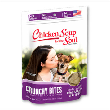Chicken Soup for the Soul Crunchy Bites Bacon & Cheese Biscuit Dog Treats 12oz