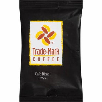Trademark Coffee Cafe Blend Ground Pre-measured Coffee packs , 42-1.25 oz for use in regular coffee makers