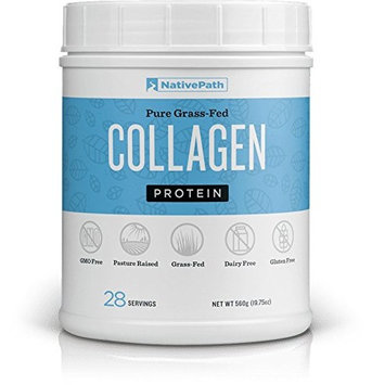 NativePath Collagen Protein Powder - Pasture Raised Bovine Collagen, Non GMO, Gluten Free, and Dairy Free, Certified Paleo Friendly, Supports Healthy Skin, Joints, and Hair (19.75 oz per Bottle) (1)