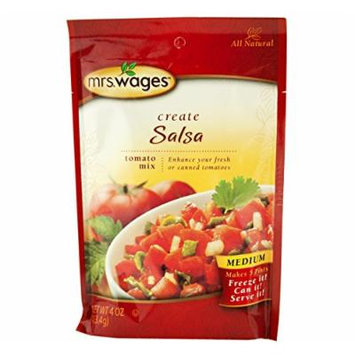 Mrs. Wages Salsa Tomato Seasoning Mix, 4 Oz. Pouch (Pack of 4)