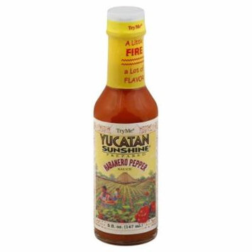 Try Me Yucatan Sunshine Habanero Pepper Sauce, 5-Ounce Bottles (Pack of 6) by Try Me [Foods]