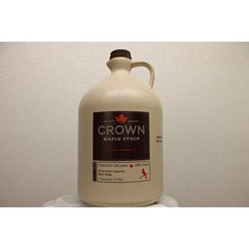 Organic Crown Maple Dark Color - Robust Taste Syrup One Gallon Plastic