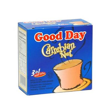 Good Day Carrebian Nut Coffee 100 Gram (3.52 Oz) Instant Hazelnuts Flavor 5-ct @ 20 Gram (Pack of 3)