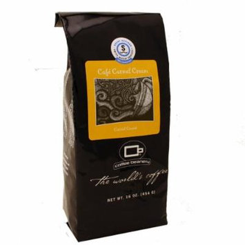 Coffee Beanery Café Carmel Flavored Coffee SWP Decaf 16 oz. (Whole Bean)
