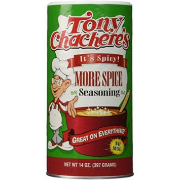 Tony Chachere Seasoning Blends, More Spice, 3 Count