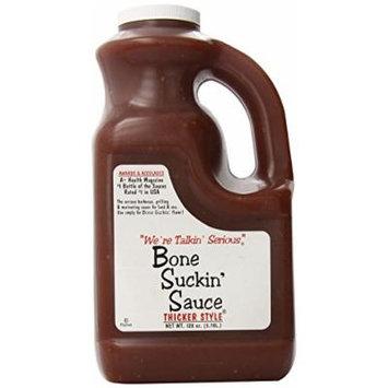 Bone Suckin Gourmet Foods BBQ Sauce, Thicker Original, 128 Ounce