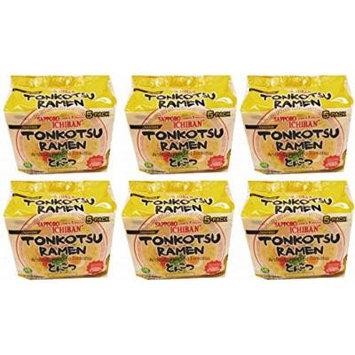 Sapporo Ichiban Japan Tonkotsu Instant Ramen Bag 5 Pc meals 18.5oz (Pack of 6)