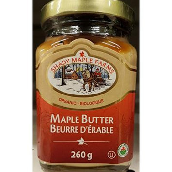Shady Maple Farms Maple Butter, Canada Organic 260g 9.20-Ounce {Imported From Canada}