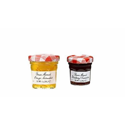 Bonne Maman Duo Mini Jars - 1 Oz X 30 Pcs (15 Strawberry, 15 Orange)