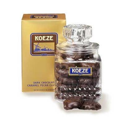 Koeze's Dark Chocolate Pecan Turtles 19.5 oz. Decanter