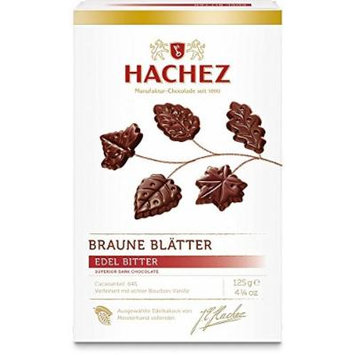 Hachez Braune Blätter Edel-Bitter (125 g)