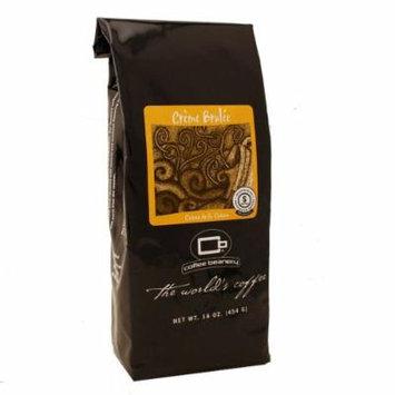 Coffee Beanery Crème Brulee Flavored Coffee SWP Decaf 16 oz. (Fine)