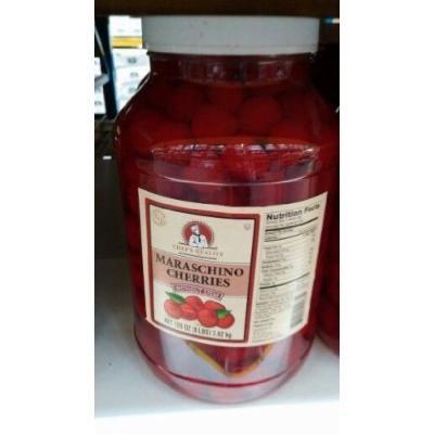 Chef's Quality: Maraschino Cherries with Stem 1 Gallon (2 Pack)