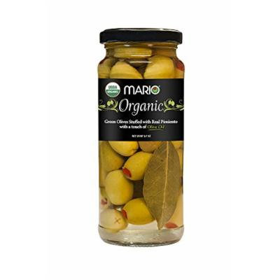 Mario Camacho Organic Green Olives Stuffed with Real Pimiento and Touch of Olive Oil, 6.7 Ounce