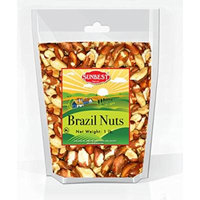 SUNBEST Whole, Raw, Shelled Brazil Nuts in Resealable Bag … (1 Lb)