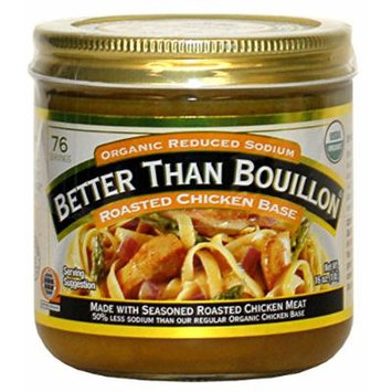 Better Than Bouillon Organic Roasted Chicken Base, Reduced Sodium - 16 oz (1 pack)