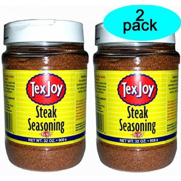 Texjoy Steak Seasoning No MSG 32 Ounce 2 Pack (64 Total Ounces, 4 Pounds of Goodness)