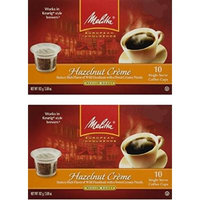 Melitta Single Cup Coffee for K-Cup Brewers, 10 Count (Pack of 2) (Hazelnut Creme)