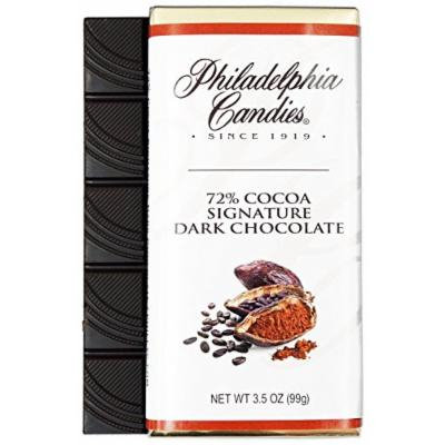 Philadelphia Candies Signature Dark Chocolate For Wine 72% Cocoa, 3.5-Ounce Packages (Pack of 12)