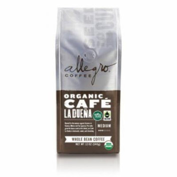 Allegro Whole Bean Coffee, 2-12oz Bags (Organic Cafe La Duena)
