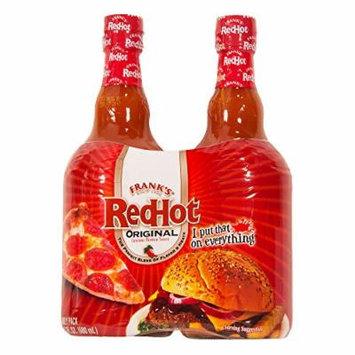 Frank's Red Hot Sauce, 46 Ounces -- Original Cayenne Pepper Sauce (2 -- 23 Oz Bottles)