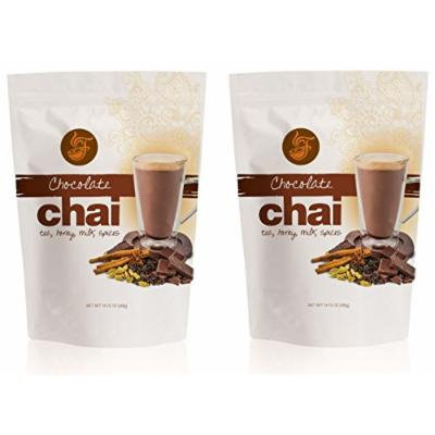 Fireside Powdered Instant Chai Tea 14 Oz. Bag (Pack of 2) (Chocolate )