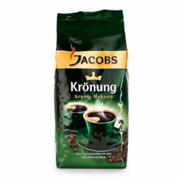 Jacobs Kroenung Aroma-Bohnen (Kroenung Whole Bean Coffee), 17.6-Ounce Vacuum Packs (Pack of 4)