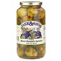 J&A Pickled Sweet Brussel Sprouts 32oz Jake & Amos