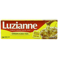 Luzianne Specially Blended for Iced Tea, Green Tea Family Size, 24 Count (Pack of 6)