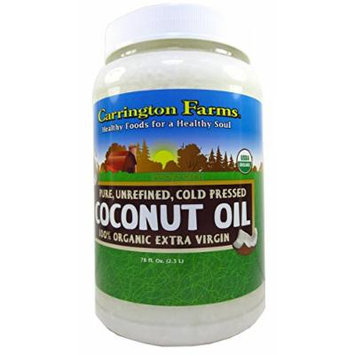 Carrington Farms Coconut Oil 78oz Organic Unrefined Cold Pressed Kosher
