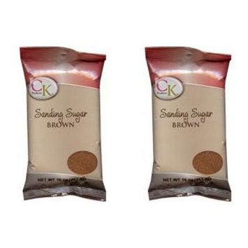 CK Products Sanding Sugar BROWN - 1 Pound (Pack of 2)