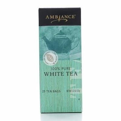 1.32oz Ambiance 100% Pure White Tea, 25 Tea Bags (Three Boxes)