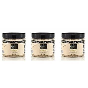 Bakto Flavors Golden Cane Vanilla Sugar - Organic Sugar - Pack of 3 (1 lb Jars)