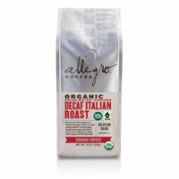 Allegro Ground Coffee 2, 12 oz Bags (Decaf Organic Italian Roast)