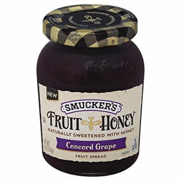 Smucker's Fruit Spread, Fruit & Honey Concord Grape, 9 oz